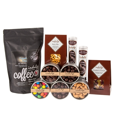 Indulge fun favorites gift basket